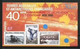 TAAF 1995 Bloc N° 2 **  Neuf MNH Superbe C 14,50 € Faune Oiseaux Birds Manchots Otarie Timbres Sur Timbres Animaux - Blocks & Kleinbögen