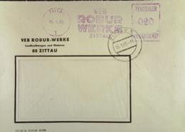 """DDR: ZKD-Fern-Brief Mit AFS =020= Zittau Vom 16.3.65 """"VEB ROBUR WERE"""" Nach Bautzen Knr: ZKD-AFS - Service"""