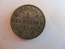 Germany Wurtemberg: 1 Kreuzer 1864 - [ 1] …-1871: Altdeutschland