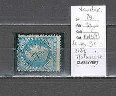 France  Obliteration  Petit Chiffre Du  Gros Chiffre - 2177 Malaucene  Dans Le Vaucluse - 1849-1876: Période Classique