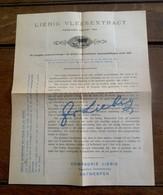Reklame    2 Talig               LIEBIG  VLEESEXTRACT  Van Rond 1953   COMPAGNIE  LIEBIG    ANTWERPEN - Publicités