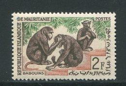 MAURITANIE- Y&T N°168- Neuf Sans Charnière ** (singes) - Mauretanien (1960-...)