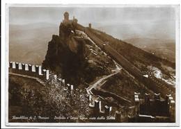 Repubblica Di San Marino. Seconda E Terza Torre Viste Dalla Rocca. Bella Affrancatura. - Saint-Marin