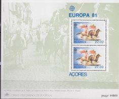 PORTUGAL AZOREN  Block 2 Postfrisch **, Europa CEPT, Folklore 1981 - Europa-CEPT