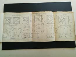 ANNALES PONTS Et CHAUSSEES (Dep 11) - Efforts Observés Dans Les Diagonales Et Les Montants - 1906 - (CLB40) - Technical Plans