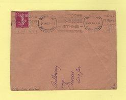 Krag - Paris 100 - 1936 - Texte Limé - Mont Dore Asthme - Marcophilie (Lettres)