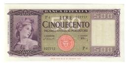 500 Lire Italia 20 03 1947 N.c. Sup/q.fds LOTTO 2268 - [ 2] 1946-… : Républic