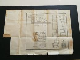 ANNALES PONTS Et CHAUSSEES - Diagramme Des Fermettes De La Passe Navigable - 1889 - (CLB41) - Cartes Marines
