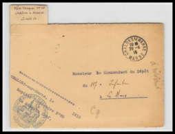52702 Chalons Sur Marne 1915 Hopital Temporaire 20 Sante Guerre 1914/1918 War Devant De Lettre Front Cover - Postmark Collection (Covers)