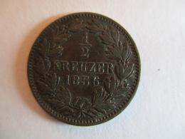 Germany Bade: 1/2 Kreuzer 1856 - [ 1] …-1871: Altdeutschland