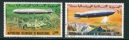 MAURITANIE- P.A Y&T N°170 Et 171- Oblitérés (Zeppelins) - Mauritanie (1960-...)