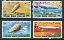 MAURITANIE- Y&T N°350 à 353- Oblitérés (Zeppelins) - Mauritanie (1960-...)