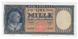 ITALIA 1000 Lire Italia Medusa 25 09 1961 Q.fds   LOTTO 2311 - [ 2] 1946-… : Républic