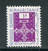 MAURITANIE- Service Y&T N°1- Neuf Sans Charnière ** - Mauritanie (1960-...)