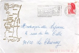 67 Niederbronn Les Bains 1982 - Centre Thermal Vosges Du Nord Alsace - Poststempel (Briefe)