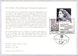 1968 Vorarlb. Stickereiindustrie FDC Karte (ANK 1291, Mi 1261) - FDC