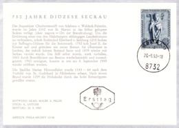 1968 750 Jahre Diözese Graz-Seckau FDC Karte (ANK 1300, Mi 1270) - FDC