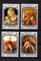 SAINT  HELENA    1989    Christmas  Paintings    Set  Of  4    MNH - Saint Helena Island