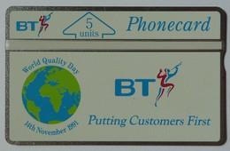 UK - Great Britain - BT - L&G - BTI010 - World Quality Day - 131E - 5 Units - Mint - United Kingdom