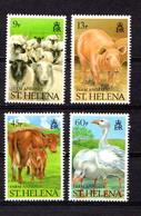 SAINT  HELENA    1990    Farm  Animals    Set  Of  4    MNH - Saint Helena Island