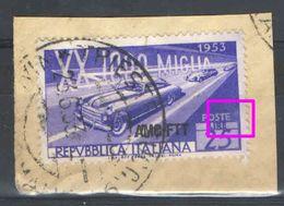 T189) TRIESTE AMG-FTT MILLE MIGLIA 1953 - VARIETA' - 7. Triest