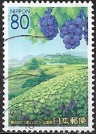 JAPAN (YAMANASHI PREFECTURE) 2007 Yamanashi Scenery - 80y - Grapes And Vineyard FU - 1989-... Empereur Akihito (Ere Heisei)