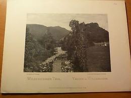 Alsace-Phototypie-Vallée De Wildenstein-Thur-Hautes-Vosges-Guebwiller-La Bresse - Livres, BD, Revues