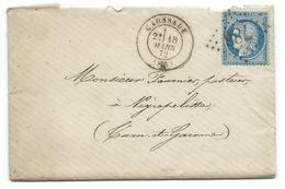 ENVELOPPE / N° 60 CERES / CAUSSADE 1872 / GC 786 / AVEC CORRESPONDANCE - 1849-1876: Klassieke Periode