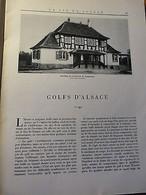 LA VIE EN ALSACE-Vieilles Fontaines-Colonel Pfitzinger-Golfs D'Alsace-1939 - Livres, BD, Revues