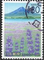JAPAN (YAMANASHI PREFECTURE) 2007 Yamanashi Scenery - 80y - Lavender And Mt Fuji FU - 1989-... Empereur Akihito (Ere Heisei)
