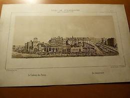 Vues De Strasbourg-Bombardement En 1870-Guerre 1870/71-Le Faubourg Des Pierres - Livres, BD, Revues