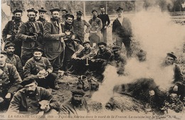 Fusiliers Marins Dans Le Nord De La France - La Cuisine Sur Le Front - Guerre 1914-18