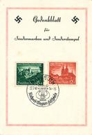 """862/28 - CANTONS DE L'EST Belges - Carte Souvenir TP 3è Reich """" EUPEN MALMEDY Wieder Deutsch """" BAYREUTH 22/7/1940 - Musique"""