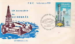 Brazil Stamp On FDC - Factories & Industries