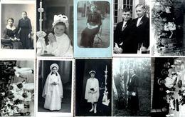 Lot De 10 Cartes Photos Originales Communiantes & Communiants Des Années 1910 à 1970 - Oran, Düsseldorf, France, ... - Anonymous Persons