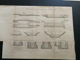 ANNALES PONTS Et CHAUSSEES (Dep 59) - Canal De L'éscaut à La Meuse - Graveur E.Pérot - 1883 - (CLB46) - Nautical Charts