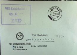 DDR: ZKD-Fern-Brief Mit ZKD-KSt. GERA Vom 4.1.65, Abs. VEB Kohlehandel Gera - Service
