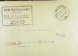 DDR: ZKD-Fern-Brief Mit ZKD-KSt. DRESDEN N 6 Nach Braunkohlenwerk Espenhain Vom 4.1.65, Abs. VEB Kohlehandel Dresden - Service