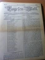 Journaux Reliés Vogesen-Blatt Du N° 1 Au N° 20...1902. Alsace. Strasbourg - Livres, BD, Revues