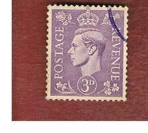 GRAN BRETAGNA (UNITED KINGDOM) -  SG 467  - 1938 KING GEORGE VI 3     - USED° - Usati