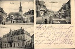 Cp Gertwiller Gertweiler Elsass Bas Rhin, Kirche, Hauptstraße, Rathaus, Anwohner - France
