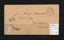 1854-1862 Helvetia (Ungezähnt) Strubel → P.D. Umschlag WINTERTHUR Nach CONSTANZ  ►SBK-25B4.V◄ - Lettres & Documents