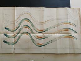 ANNALES PONTS Et CHAUSSEES - Action De L'eau Courante Sur Un Fond De Sable - Imp.Monrocq - 1894 - (CLB48) - Nautical Charts