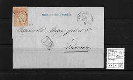 1854-1862 Helvetia (Ungezähnt) Strubel → PD Brief (Bordereau) Genéve-Thonon/F ►SBK-25B1.II/III◄ - Lettres & Documents