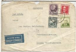 BILBAO 1935 FRONTAL SELLOS LOPE DE VEGA A ALEMANIA - 1931-Today: 2nd Rep - ... Juan Carlos I