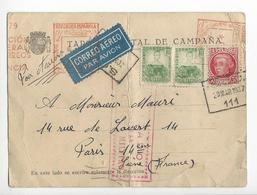 ESPAGNE CENSURE CENSOR AUTOGRAPHE ORIGINAL AUTOGRAPHE ARMAND GAFFET 1937 Défauts /FREE SHIPPING R - Marques De Censures Républicaines
