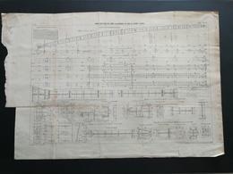 ANNALES PONTS Et CHAUSSEES (Dep 75) - Plan Du Pont Alexandre III - Imp.L Courtier - 1898 (CLB51) - Travaux Publics
