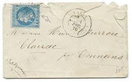 ENVELOPPE / N° 29 NAPOLEON / LAZAS 1870 - 1849-1876: Classic Period