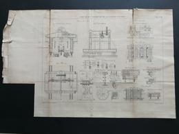 ANNALES PONTS Et CHAUSSEES (Dep 62) - Plan De Port à Boulogne-sur-mer - Graveur Macquet - 1893 (CLB52) - Travaux Publics