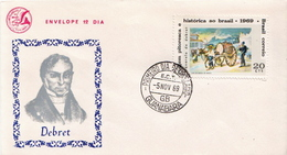 Brazil Stamp On FDC - Art